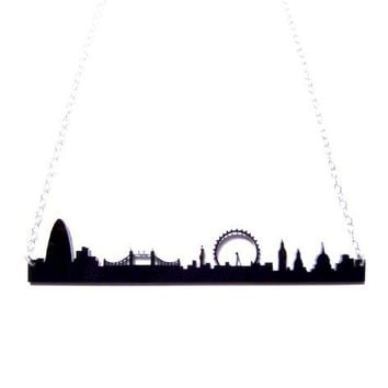 Supermarket - london england skyline acrylic necklace from plastique*
