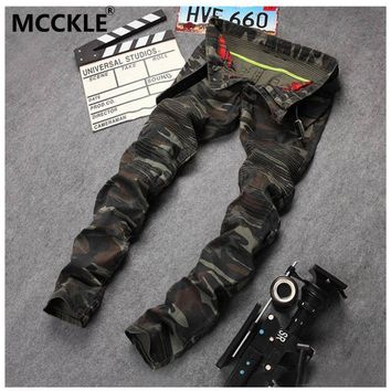 auguau New Mens Camouflage Jeans Motocycle Camo Military Slim Fit Famous Designer Biker Jeans With Zippers Men AY971
