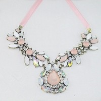 Pink and Opal Cherry Blossom Necklace