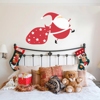 Running Santa Wall Decal