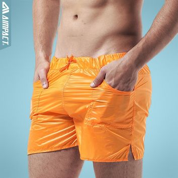Aimpact Men's Pocket Beach Shorts Solid Super Light Weight Sexy Quick Dry Men Shorts Leisure Mesh Lining Liner Board Shorts DT10