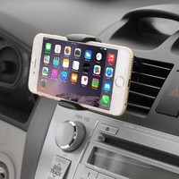 Air Vent Mount - iKross Smartphone Air Vent Car Vehicle Mount Cradle Holder - Black