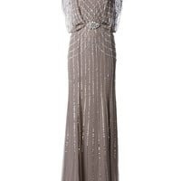 Jenny Packham sequin evening gown