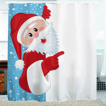 Multiple Size Cute Christmas Design Bathroom Shower Curtains with Hooks Bathroom Accessories Bath Curtain