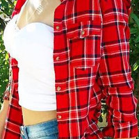 SOUTHERN CHARM FLANNEL IN RED MULTI