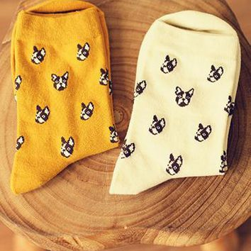 New caramella Banana Elk hit Color Socks for Couple happy socks Harajuku Street Tide Casual cotton compression mens sock a pair