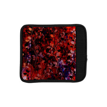"Ebi Emporium ""Amongst the Flowers - Summer Nights"" Red Black Luggage Handle Wrap"