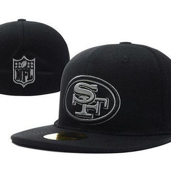 San Francisco 49ers New Era 59fifty Nfl Football Cap Black