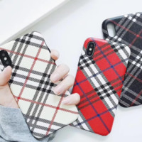 BURBERRY print phone shell phone case for Iphone 6/6s/6p/7p/7/8/8p/X