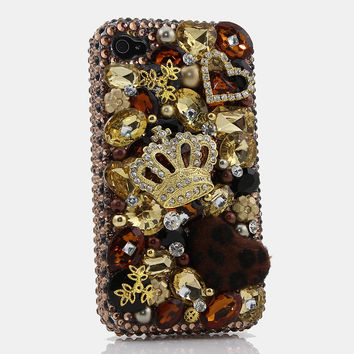 Golden Crown with Leopard Fur ball design (style 249)