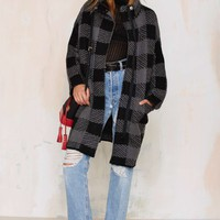 Stark Raving Plaid Cardigan Coat