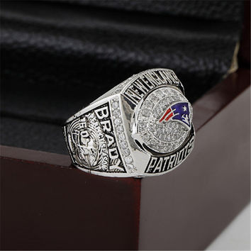 England Patriots Championship Ring 2007 Replica AFC American Football Rings Super Bowl Jewelry