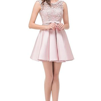 Short Homecoming Dress Cocktail Party Corset Back