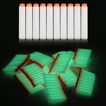 50pcs/lot Fluorescence Toy Orbeez Gun Luminous Bullets for Nerf Series Blasters Refill Clip Darts EVA Soft Bullets