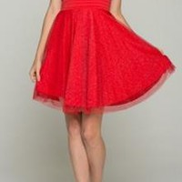 Love Is In The Air Shimmering Red Party Dress