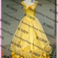 Kids adult princess belle dress beauty and the beast costume women belle cosplay fantasy halloween costumes for women custom