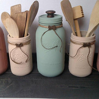 Large Mason Jar Canister Set - Kitchen Canister Set - Mason Jar Kitchen Canisters - Farmhouse Kitchen Storage - Canister Set with Box