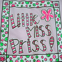 Southern Chics Funny Lil Girl Miss Priss Pink Kid Youth Bright T Shirt