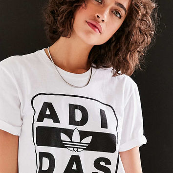 adidas Originals + UO Stenciled Logo Tee - Urban Outfitters