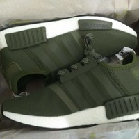 Best Online Sale Adidas NMD R1 Army Green Boost Sport Running Shoes Classic Casual Shoes Sneakers