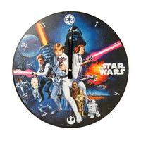 "Star Wars: A New Hope 13.5"" Cordless Wood Wall Clock"