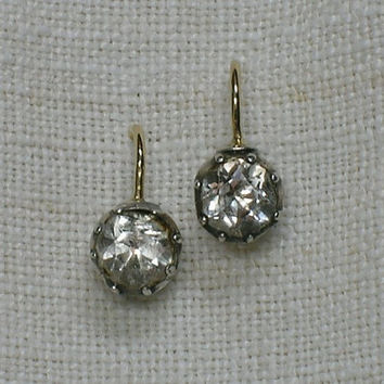 c1800 Georgian Regency era Rock Crystal Earrings by AuldBaubles
