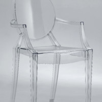 Clear Acrylic Ghost Arm Chair