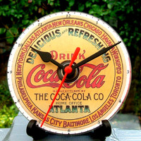 Vintage Coca Cola Advert, CD Clock, Can be Personalized.