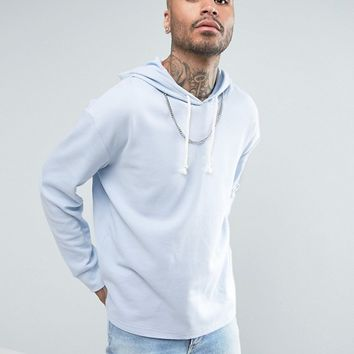 Puma Waffle Oversized Hoodie In Blue Exclusive to ASOS at asos.com