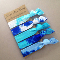 The Emery Hair Tie Collection - 5 Elastic Hair Ties by Elastic Hair Bandz on Etsy