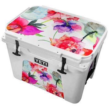 Watercolor Painted Flowers Skin for the Yeti Tundra Cooler