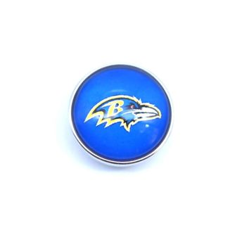 jewelry Series Sports Glass Snap Jewelry Baltimore Ravens Football Team Charm Fit 18mm Snap Button Bracelet Necklace