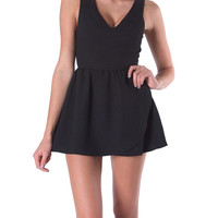 Hiding My Heart Romper - Black