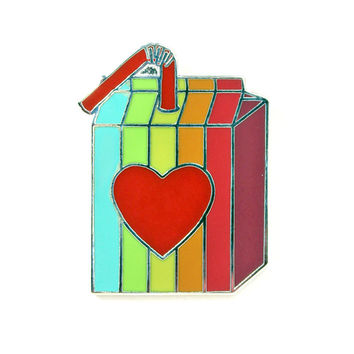 Retro Rainbow Juicebox Pin