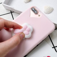 KISSCASE Cartoon Cute Cat Cases For iphone 7 5s SE 6 6s 7 Plus Case 3D Squeeze Cat Claw Squishy Elastic Marshmallow Silicon Case