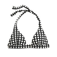 J.Crew Womens Windowpane Sculpted Halter Top