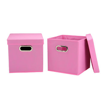 Household Essentials Storage Cubes With Lids