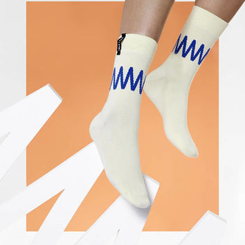 LØVE + FUN Socks Minimal Series No.5 - The Blue Zigzag