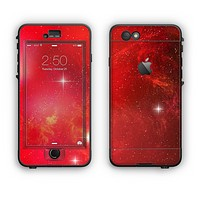 The Glowing Red Space Apple iPhone 6 Plus LifeProof Nuud Case Skin Set