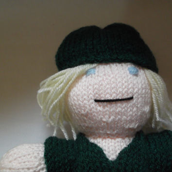 Link (from Zelda) knitted doll - plush toy - character doll - gift/adults/children/fantasy/gaming/Christmas