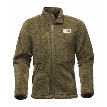 Men's Campshire Full Zip Sherpa Fleece in Burnt Olive Green by The North Face - FINAL SALE