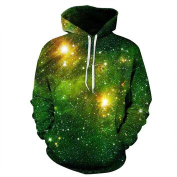 Cosmos Galaxy Stars Black Hole Aliens All Over Print Hoodies Sweater