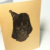 The Party Has Arrived- Darth Vader birthday card
