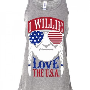 I Willie Love The USA Tank Top For Women
