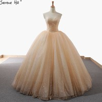New Sleeveless Sparkle Princess Fashion Wedding Dress Sequined Off Shoulder Sexy Vintage Bridal Gown