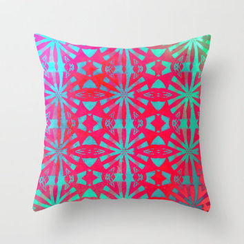Aloha Throw Pillow by Ally Coxon