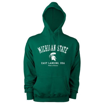 Michigan State Spartans Hometown Made in America Hooded Sweatshirt - Green