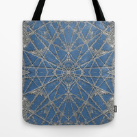 Snowflake Blue Tote Bag by Project M