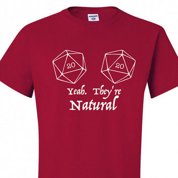 Natural 20 DnD Shirt- Vinyl Design