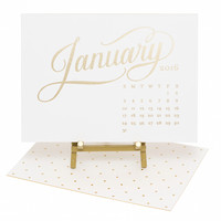 2016 Kate Desk Calendar, White